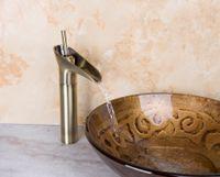 bath real estate - 96104 European Classic Construction Real Estate Antique Brass Faucet Bath Basin Single Lever Bathroom Wash Basin Mixer Tap