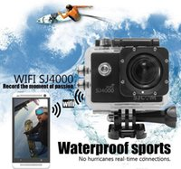 Wholesale SJ4000 WiFi Waterproof Action HD Camera Mini Camcorder Gopro style MP P H Inch Degree Wide Angle CAR DVR