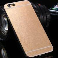 aluminium housings - 2015 Aluminium Metal Brush Case For iphone Plus inch Mobile Phone Housings Ultra Slim Cover For Apple iphone