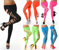 spandex leggings - 2015 New Arrival Leggings Women Big Ripped Opaque Spandex Stirrup Leggings For Women B7068