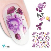 Wholesale 2015 new hot Freeshipping Mixed Design Water Decals Very Beautiful D Flower Transfer Nail Sticker