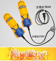 Shoe Dryer - 2015 Despicable Me Minions Creative Portable Shoes Boots Gloves Warmer Grille Electric Dry Shoes Deodorizer Shoe Dryer