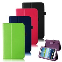 Wholesale S5Q New PU Leather Folio Smart Case Cover For Samsung Galaxy Tab inch Tablet AAACWK