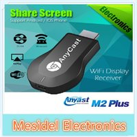 Wholesale HD P AnyCast M2 Plus Airplay Wifi Display TV Dongle Receiver DLNA Easy Sharing Mini TV Stick for Android IOS WINDOWS