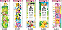 adhesive rulers - 26 cm Cartoon Growth Ruler Wall Sticker cm Height Chart Measure Daycare Child Room Decal Paper