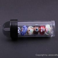 Wholesale 20pcs cm Transparent Plastic Bottle Display Bottle Column Jar Cosmetic Nail art Box Case Storage Container Organizer