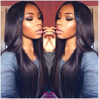 america human hair wig - Cheap Human Hair Straight front lace wigs top a quality Brazilian human hair no shedding human hair lace wigs African America