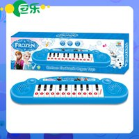 Plastic keyboard piano - Musical instruments toy for kids Frozen girl Cartoon electronic organ toy keyboard electronic baby piano with music song Educational toy