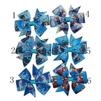 hair clip for kids - Fashion Style quot Frozen Hair Bow Anna Bow Elsa Bow With Clip For Baby Kids Hair Accessories