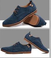 men leather shoes - 2015 Hot Plus size summer mens casual shoes suede leather breathable skateboard shoe men Size