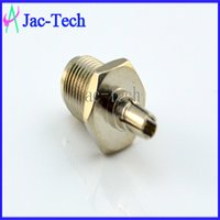 Extension Socket industrial material - 100Pcs straight RP SMA female to CRC9 male RF coax connector brass material