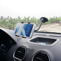 Wholesale 360 Degree Universal Car Phone Holder Windshield Mount Bracket Mobile Phones Holder for Apple iPhone Plus Galaxy Note2 S4 S5