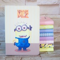 anime ipad case - Despicable me case for ipad mini anime coque cartoon fundas smart auto on off leather cases for ipad mini capa para tablet