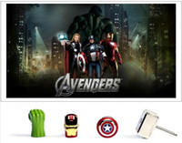 usb drive pen drive - 10pcs real capacity AVENGERS GB GB GB GB GB GB GB USB Flash Drive pen drive thumb drive Captain America Shield memory stick