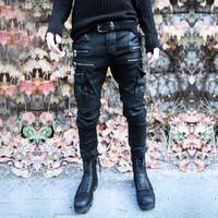 designer casual jeans - New Luxury Balmain Biker Jeans For Men Fashion All Match Casual Pants Jeans Mens Personality Dark Punk Designer Jeans Plus Size