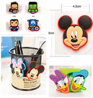 Wholesale Mickey And Minnie Fridge Magnet Cute PVC Magnet Home Décor styles The Avengers Alliance Hero Alliance Refrigerator Magnets R001061