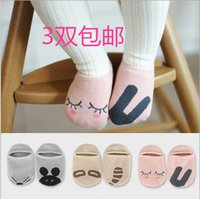 Wholesale The new South Korean cartoon cotton baby boys and girls socks baby socks non slip floor