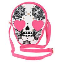 Wholesale Women Leather Handbags New Vintage Skull Bag Coin Purse Women Handbag Women Messenger Bags