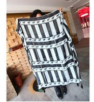 Wholesale 2016 black and white zebra stripe tassel pendant cotton scarf shawls scarves autumn and winter of foreign trade BS60