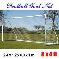 Wholesale Flexible Football Net Full Size x ft x1 m Soccer Goal Post Flat Straight Back Double Knotted