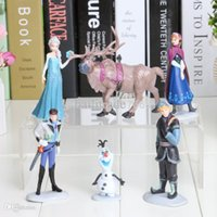 best hans - set set New Movie Princess Anna Elsa Kristoff Olaf Hans Cartoon PVC action figures best children toys
