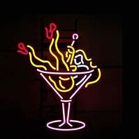 beer drinking tube - Cocktail Drink Cup Neon Sign Commercial Custom Store Display Beer Bar Disco KTV Club Real Glass Tube Neon Advertisement Logo Signs quot X14 quot