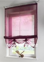 Wholesale Liftable kitchen balcony curtains Sheer Voile Window blinds
