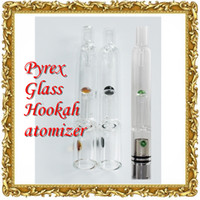 water tank - 2015 New Pyrex Glass Hookah atomizer vhit atomizer tank Dry Herb Wax Vaporizer herbal vaporizers pen water filter pipe ecig e cig cigarette
