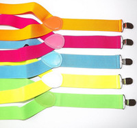 Wholesale Via Fedex IP X100cm Adults Y back Adjustable Suspenders Clip on Elastic Suspender Adult Belts Straps