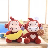 banana bread gift - 30cm size Monkey Plush Toy With Banana And Bread Monkey Soft Stuffed Doll New Style Christmas Gift