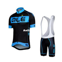 Wholesale 2016 ALE Cycling Jersey Short Sleeve Jersey Bib Shorts Set Pro Team Cycling Clothing Maillot Bike Bicycle Wear XS XL