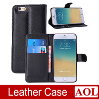 Cheap High Quality Cell Phone Leather Case Litchi Luxury Wallet Credit Card Stand Skin Cover for iphone 6 4.7 ihch Colorful free shipping