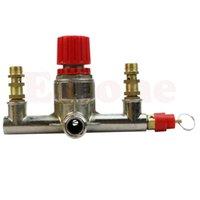 Wholesale A96 Zinc Alloy Air Compressor Double Outlet Tube Pressure Regulator Valve Fit Parts