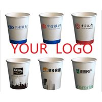 Wholesale custom paper cup Disposable cups printed LOGO advertising promotional green paper cups
