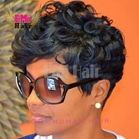 human hair afro wigs - Human hair wigs Afro Curly short glueless wig Human Hair afro kinky curly wig brazilian hair lace front wigs for black women New Arrival