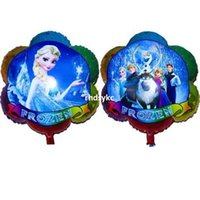 Wholesale Christmas Gift Wholesale Deal - 50pcs alumnum balloons Festival party supplies Deals! Cartoon toys plum sided mirror princess birthday balloon gift balloons party activitie