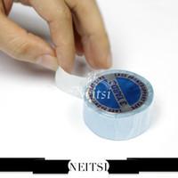 Al por mayor-Neitsi Super Glue Tape Para las extensiones del pelo de doble cara 3 Patios 1PC azul del cordón Soporte frontal Cinta / Pegamento Envío Gratis