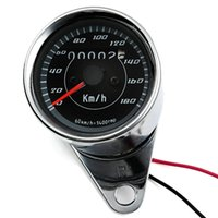 Wholesale Double color LED Light Universal Odometer Speedometer Meter km h for Motorcycle