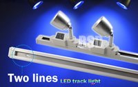 Wholesale G WiFi phone control LED RGBCW W V color changing Two Lines adjustable track Rail Spot Light Lamp