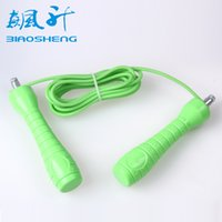 Wholesale 2 M Steel wire rope Skipping Jump Fast Speed Rope Jumping For Training Workout Exercise Fitness Boxing Lose Weight Calorie