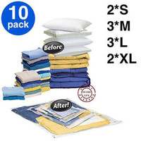Wholesale with four sizes S M L XL vacuum compressed sealed bag space saving bag clothing and quilts bedding