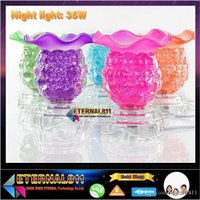 aroma night lamp - Fragrance Lamp table lamp night light Glass lamp electric aroma stove fragrant lamps V W Freeshipping