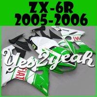 Wholesale New motorcycle fairings free gift Bolts Screws KAWASAKI Ninja Injection Mold Fairing Fit ZX6R ZX636 ZX R Fiat Green K65Y27