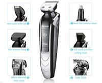 Wholesale All in One Trimmer with attachments Electric man grooming kit hair clipper trimer shaver beard nose rechargeable cutting haircut tool