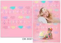 baby photography art - 5X7FT Fresh Pink Art Wall For Baby Photography Backdrop For Photos Studio Background Digital Cloth Senior Backgrounds