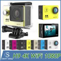 lens optical - Camera k WiFi action DV outdoor sport car DVR FHD P quot MP glasss lens H9 New Arrival