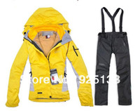 best outdoor pants - Fashion women best quality brand Ski suits jacket trousers set winter warm outdoor jacket and pants se dmwfp4235