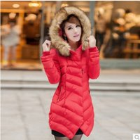 Women Hooded Long The European station fur collar down jacket 2014 new winter clothes in a long paragraph thicken large size women self-cultivation tide coat