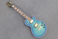 blue guitar - Chinese electric guitar blue mahogany body CST rosewood fingerboard pick ups guitar
