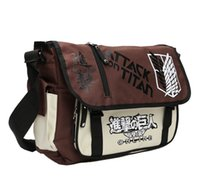 Wholesale Hot Attack on Titan Anime Style Fashion Crossbody Bag School Bag Messenger Bag